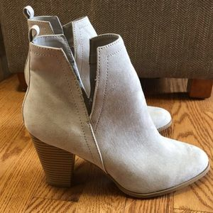Express Booties (tan suede) size 8